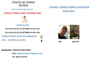 Stages jeunes Toussaint 2020 au TEC